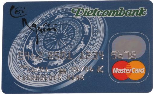 Thẻ tín dụng (Credit) Vietcombank MasterCard